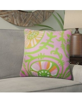 Bloomsbury Market Wickson Modern Geometric Cotton Throw Pillow BLMK5008 Color: Pink