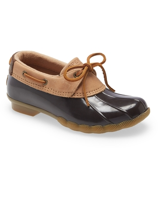 Sperry Saltwater Bootie, Size 9.5 in Tan/Brown Leather at Nordstrom