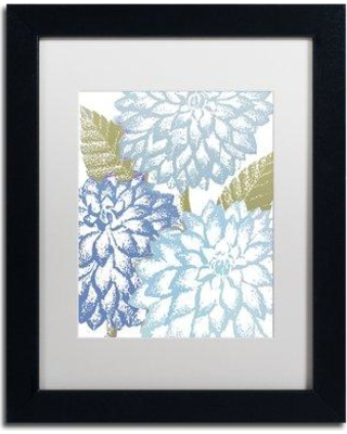 """Trademark Art 'Sea Dahlias I' by Color Bakery Framed Graphic Art ALI4944-B1 Matte Color: White Size: 20"""" H x 16"""" W x 0.5"""" D"""