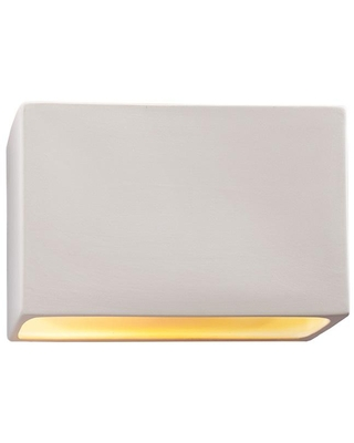 Justice Design Ambiance 2-Light Bisque Ceramic Wall Sconce
