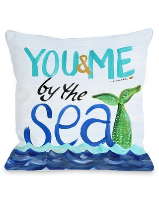 """By the Sea Throw Pillow One Bella Casa Size: 16"""" H x 16"""" W x 3"""" D"""