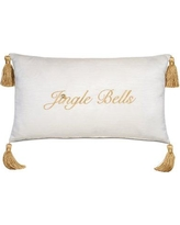 Eastern Accents Jingle Bells Holiday Throw Pillow ATE-887