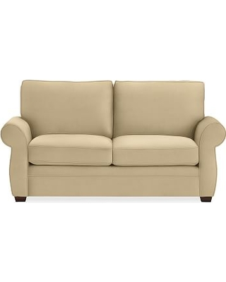 """Pearce Roll Arm Upholstered Loveseat 73"""", Down Blend Wrapped Cushions, Performance Everydaysuede(TM) Oat"""