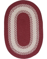 Home Decorators Collection Chancery Berry 2 ft. x 4 ft. Braided Runner Rug, Pink
