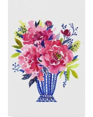"""Trademark Art 'Flowers 2' Acrylic Painting Print on Wrapped Canvas ALI36238-CGG Size: 19"""" H x 12"""" W x 2"""" D"""