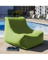 Jaxx Ponce Outdoor Small Outdoor Friendly Bean Bag Chair & Lounger Upholstery, Performance Fabric/Mildew Resistant/Fade Resistant in Lime | Wayfair