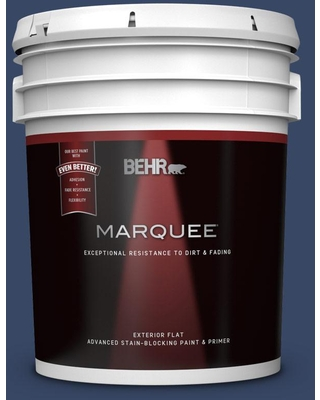 Amazing Deal On Behr Marquee 5 Gal Mq5 14 Bon Nuit Flat Exterior Paint And Primer In One