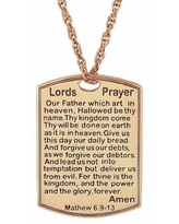 Personalized Lord's Prayer Pendant Necklace, One Size , Pink