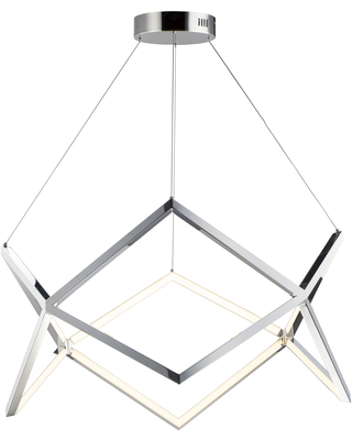 ET2 Lighting Victory 31.5 inch LED Pendant in Polished Chrome