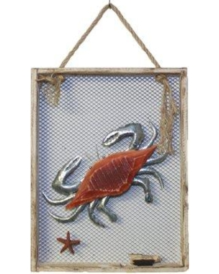 Breakwater Bay Crab Wood and Metal Plaque Wall Décor BF098318