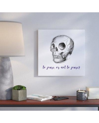 """Wrought Studio 'To Scare or Not to Scare' Graphic Art Print VRKG6135 Size: 36"""" H x 36"""" W Format: Canvas"""