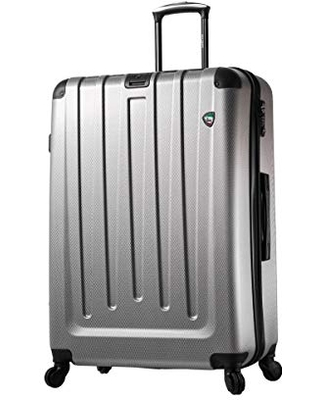 Mia Toro Italy Catena Hardside 29 Inch Spinner Luggage, Black, One Size
