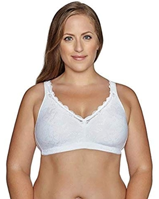 Exquisite Form Fully Women's Wirefree Back Close Bra With Comfort Lining #51062048, 40D, White