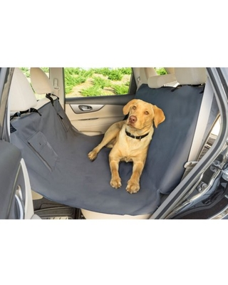 Premier Pet Car Hammock Seat Cover - Helps Secure Your Dog and Protect Vehicle's Back Seat - Durable and Machine Washable Design Makes Clean Up Easy