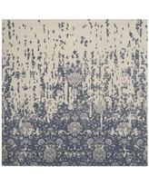 Ophelia & Co. Ellicottville Hand-Tufted Ivory/Blue Area Rug OPCO2791 Rug Size: Square 6'