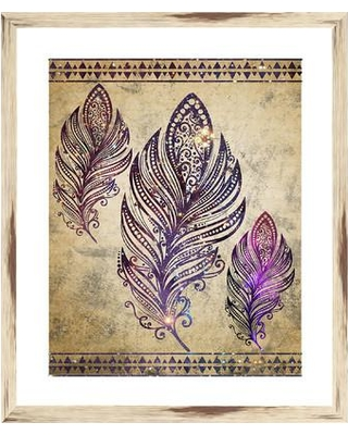PTM Images Bohemian Feather I Framed Graphic Art 2-14243A