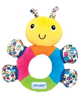 The First Years My First Rattle, Baby Learning Toy With Soft Teething Surfaces & High Contrast Patterns