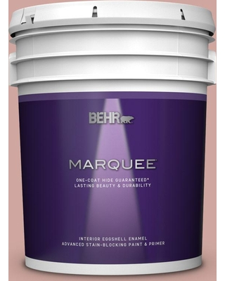 BEHR MARQUEE 5 gal. #200E-3 Cinnamon Cocoa Eggshell Enamel Interior Paint and Primer in One