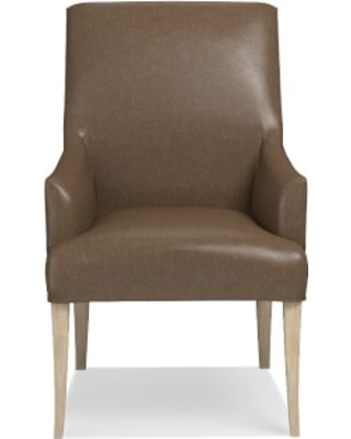 Belvedere Dining Armchair, Italian Distressed Leather, Toffee, Heritage Grey Leg