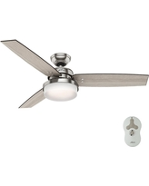 LED Indoor Polished Nickel Ceiling Fan Light Kit /& Remote Hunter Kimball 52 in