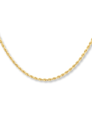 """Rope Necklace 10K Yellow Gold 30"""" Length"""