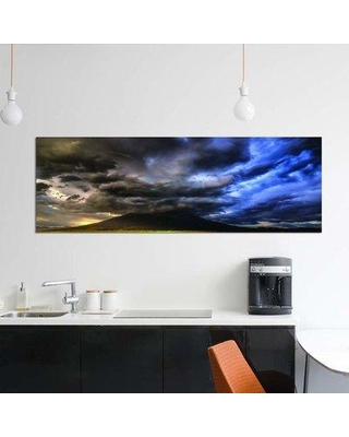 """East Urban Home 'Sudden Storm!' By Bill Sherrell Graphic Art Print on Wrapped Canvas EUME7479 Size: 12"""" H x 36"""" W x 0.75"""" D"""