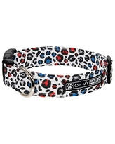 Hand Made Dog Collar by Oh My Pawd Valentines Day Doodle Collar for Pets Size Large 1 Inch Wide and 17-25 Inches Long