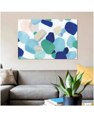 """East Urban Home 'Seaglass Symphony' Oil Painting Print on Wrapped Canvas ESUH7631 Size: 12"""" H x 18"""" W x 1.5"""" D"""