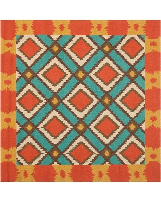 Safavieh Four Seasons Light Blue/Red 6 ft. x 6 ft. Square Area Rug