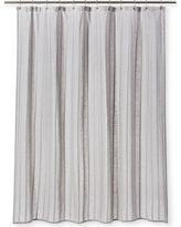 Dyed Striped Shower Curtain Cashmere Gray - Threshold