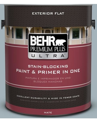 BEHR Premium Plus Ultra 1 gal. #ppf-27 Porch Ceiling Flat Exterior Paint and Primer in One, Blues