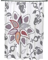 Alcott Hill Orchard Lane Polyester Paisley Pop Floral Shower Curtain ACOT1628 Color: Gray