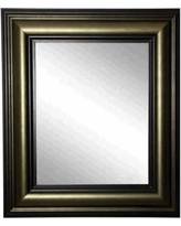 """Glendford Bronze Antiqued Stepped 30"""" x 36"""" Wall Mirror"""