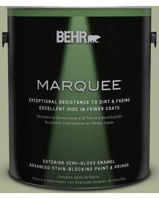 BEHR MARQUEE 1 gal. #PPU10-06 Spring Walk Semi-Gloss Enamel Exterior Paint and Primer in One