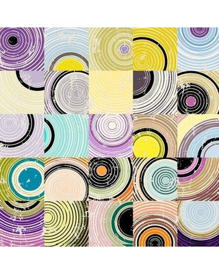 """Marmont Hill 'Disconnected Circles' Painting Print on Wrapped Canvas MH-CUSPAT-65-C- Size: 32"""" H x 32"""" W x 1.5"""" D"""