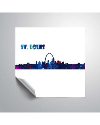 "East Urban Home 'St. Louis Skyline Scissor Q Foreground' Graphic Art Print on Wrapped Canvas BI044366 Size: 14"" H x 14"" W Format: Paper"