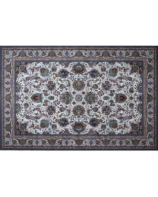 Here S A Great Deal On Astoria Grand Mingo Hand Look Persian Wool Blue Ivory Brown Area Rug Wool In Blue Ivory Cream Size 90 H X 60 W X 1 D Wayfair