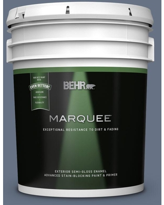 BEHR MARQUEE 5 gal. #MQ5-11 Encore Semi-Gloss Enamel Exterior Paint and Primer in One