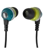 Monoprice Enhanced Bass Noise Isolating Earbuds Headphones with Built-in Microphone and Play/Pause Control, Green