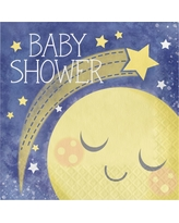 16ct To the Moon and Back Baby Shower Napkins