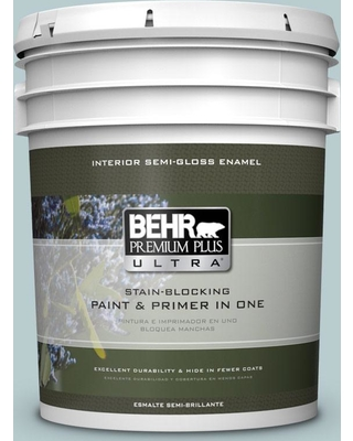 BEHR Premium Plus Ultra 5 gal. #MQ3-54 Dayflower Semi-Gloss Enamel Interior Paint and Primer in One