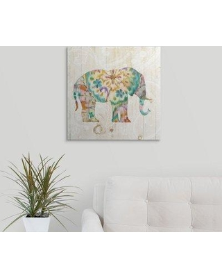"Great Big Canvas 'Boho Paisley Elephant I' Danhui Nai Graphic Art Print 2433966_1 Size: 20"" H x 20"" W x 1.5"" D Format: Canvas"