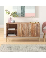 """Joss & Main Cleary Solid Wood TV Stand for TVs up to 65""""Wood in Brown, Size 30.5 H x 56.0 W x 17.0 D in 