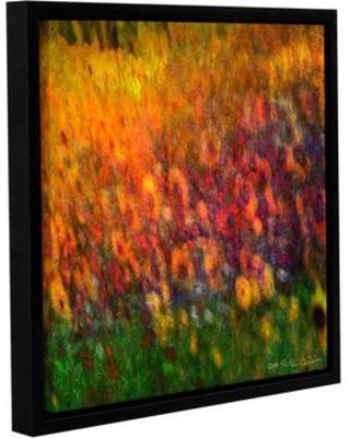 "Latitude Run Sunflowers Framed Painting Print LTRN5064 Size: 14"" H x 14"" W x 2"" D"