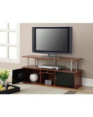 Tv Stand W 3 Cabinets In Cherry Finish