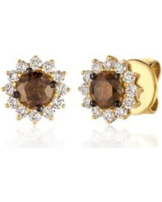 Le Vian Yellow Chocolate Diamonds And Vanilla Earrings In 14k Honey Gold