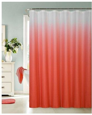 Hashtag Home Halsted Spa Bath Single Shower Curtain W000494676 Color: Red