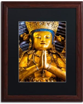 "Trademark Art ""Shiva"" by Philippe Hugonnard Framed Photographic Print PH0458-W1 Matte Color: Black Size: 20"" H x 16"" W x 0.5"" D"
