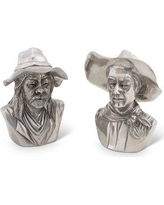 Vagabond House Western Frontier the Bandit and the Ranger Salt and Pepper Shaker Set W116CH