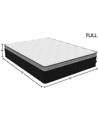 "Equalite 14"" Medium Hybrid Mattress Diamond Mattress Mattress Size: Full"